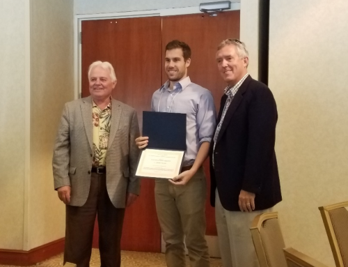 Jared Church received the first prize in poster competition