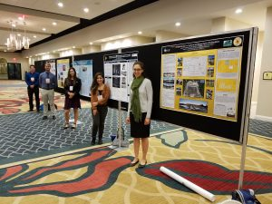 UCF CECE students Jessica Cormier, Frances Martinez, Maria Arenas, Martin Coleman and Daniel Whalen presented posters on their research projects at the conference.