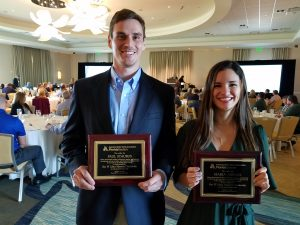 Graduate students Paul Staubus and Maria Arenas each won the prestigious Roy W. Likins Scholarship. Each year, the Likins Scholarship Committee awards a minimum of $2,500 to a maximum of $25,000 in scholarships. The scholarships are distributed in $2,500 or more increments to deserving Florida students, either in undergraduate or graduate school.