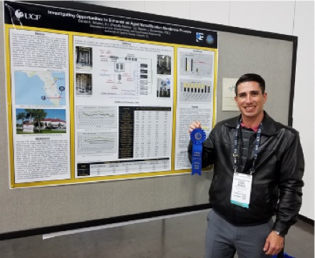 UCF's Daniel Whalen wins 1st place in student poster competition!