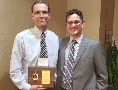 Dr. Kevin Mackie received the Arthur N. L. Chiu Outstanding Faculty Advisor Award