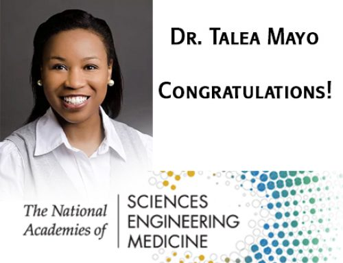 Dr. Talea Mayo is 2018 Early-Career Research Fellow