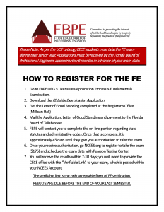 How to register for the FE