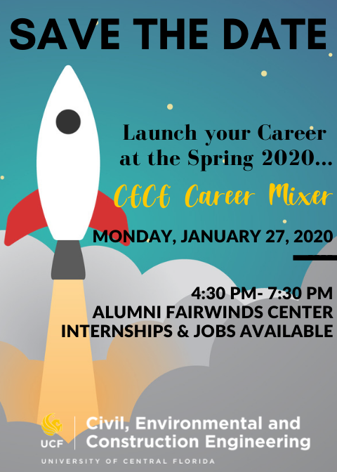 Ucf Spring 2020.Spring 2020 Cece Career Mixer Department Of Civil